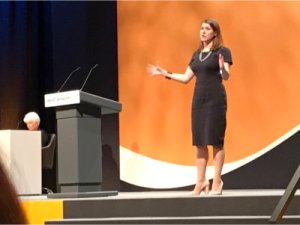Deputy Leader Jo Swinson MP speaks at LDconf 2017 - pic by @rawliberal